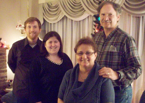 From left: Phil, Erin, Kathy & Mike (Dec. 2013 photo)