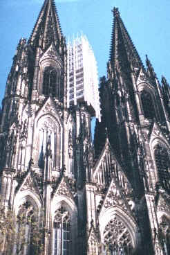 The Dom in Cologne that took 600 years to complete.